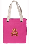 ASU Tote Bag RICH COTTON CANVAS Pink