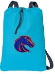 Boise State Cotton Drawstring Bag Backpacks Blue