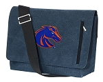 Boise State Messenger Bags STYLISH WASHED COTTON CANVAS Blue