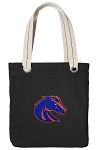 Boise State Tote Bag RICH COTTON CANVAS Black