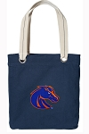 Boise State Tote Bag RICH COTTON CANVAS Navy
