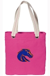 Boise State Tote Bag RICH COTTON CANVAS Pink