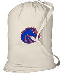 Boise State Laundry Bag Natural
