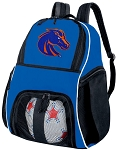 Boise State Ball Backpack Bag Blue