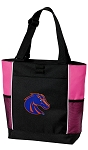 Boise State Neon Pink Tote Bag