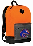 Boise State Broncos Backpack HI VISIBILITY Orange Boise State University CLASSIC STYLE