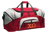 Chi O Duffle Bag or Chi Omega Gym Bags Red