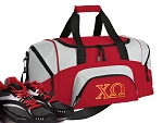 SMALL Chi Omega Gym Bag Chi O Duffle Red