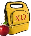 Chi O Lunch Bag Gold