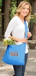 Chi O Tote Bag Sling Style Teal