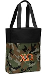 Chi O Tote Bag Everyday Carryall Camo