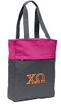 Chi O Tote Bag Everyday Carryall Pink