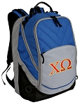 Chi O Deluxe Laptop Backpack Blue