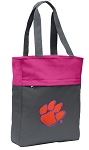 Clemson Tote Bag Everyday Carryall Pink