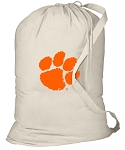 Clemson Laundry Bag Natural