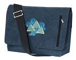 Tri Delt Messenger Bags STYLISH WASHED COTTON CANVAS Blue
