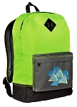 Tri Delt Backpack HI VISIBILITY Green CLASSIC STYLE
