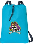 ECU Pirates Cotton Drawstring Bag Backpacks Blue
