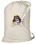 ECU Pirates Laundry Bag Natural