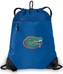 University of Florida Drawstring Bag MESH & MICROFIBER Royal