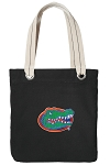 Florida Gators Tote Bag RICH COTTON CANVAS Black