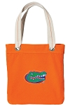 University of Florida Tote Bag RICH COTTON CANVAS Orange