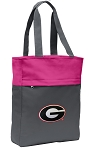 Georgia Bulldogs Tote Bag Everyday Carryall Pink