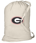 Georgia Bulldogs Laundry Bag Natural