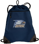 Georgia Southern Drawstring Backpack-MESH & MICROFIBER Navy
