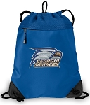 Georgia Southern Drawstring Bag MESH & MICROFIBER Royal