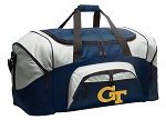 Large Georgia Tech Duffle GT Yellow Jackets Duffel Bags