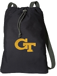 Georgia Tech Cotton Drawstring Bag Backpacks