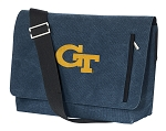 Georgia Tech Messenger Bags STYLISH WASHED COTTON CANVAS Blue