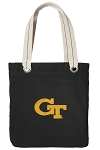 Georgia Tech Tote Bag RICH COTTON CANVAS Black
