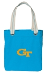 Georgia Tech Tote Bag RICH COTTON CANVAS Turquoise
