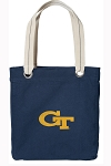 Georgia Tech Tote Bag RICH COTTON CANVAS Navy
