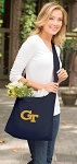 Georgia Tech Tote Bag Sling Style Navy