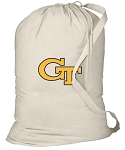 Georgia Tech Laundry Bag Natural