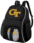 Georgia Tech Soccer Backpack or GT Yellow Jackets Volleyball Bag For Boys or Girls