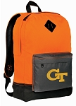 GT Yellow Jackets Backpack HI VISIBILITY Orange Georgia Tech CLASSIC STYLE
