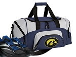 SMALL University of Iowa Gym Bag Iowa Hawkeyes Duffle Navy