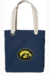 Iowa Hawkeyes Tote Bag RICH COTTON CANVAS Navy