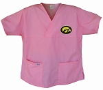 University of Iowa Hawkeyes Pink Scrubs Tops SHIRT