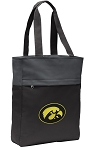 University of Iowa Tote Bag Everyday Carryall Black