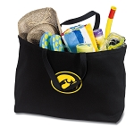 Iowa Hawkeyes Jumbo Tote Bag Black