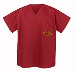 ISU Iowa State University Scrubs Top Shirt-
