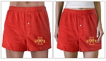 ISU Iowa State University Boxers Red