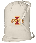 Iowa State Laundry Bag Natural
