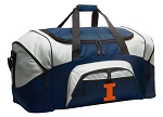 Large University of Illinois Duffle Illini Duffel Bags