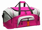 Ladies University of Illinois Duffel Bag or Gym Bag for Women
